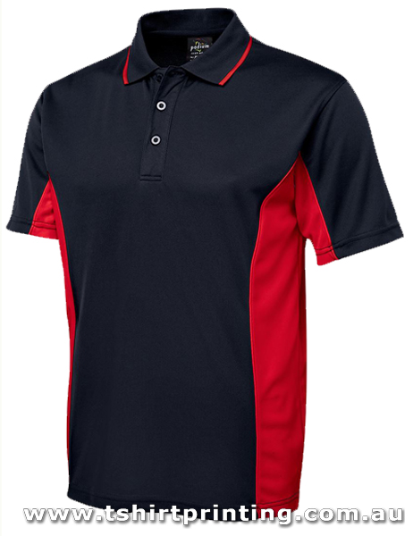 P73M JbsWear Mens Contrast Panel Polo